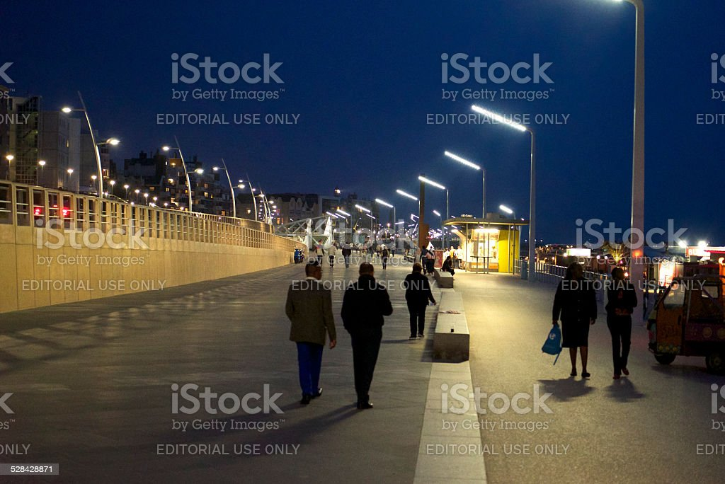 Boardwalk in Scheveningen stock photo