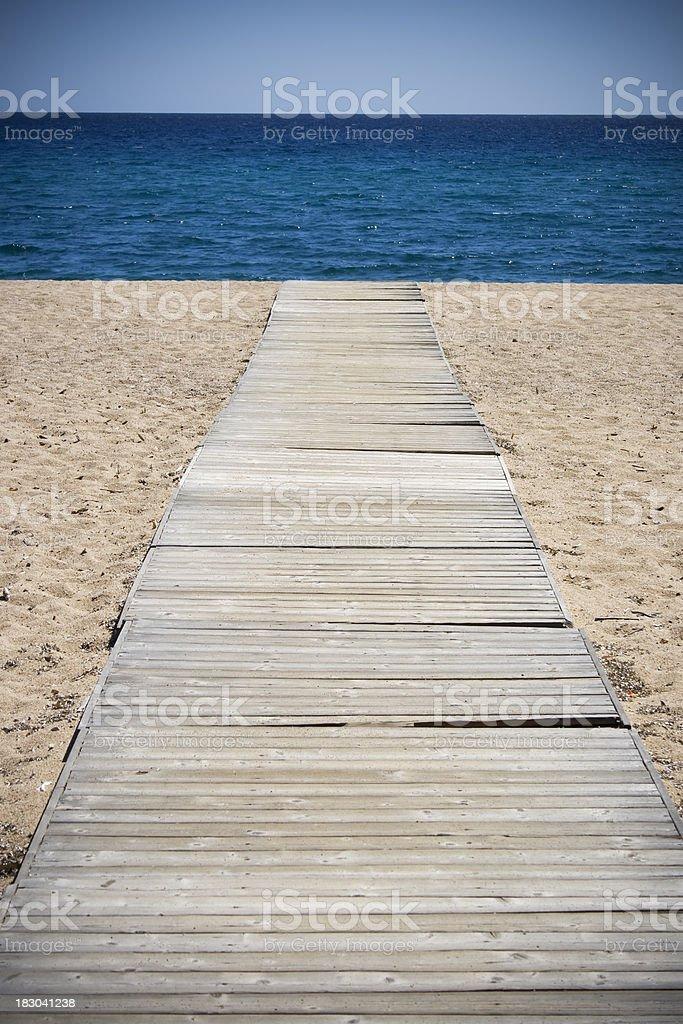 boardwalk on the beach royalty-free stock photo