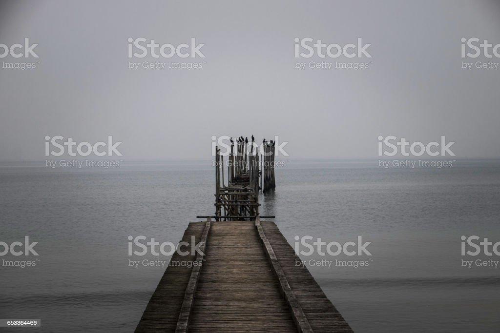 Boardwalk on the Sea stock photo