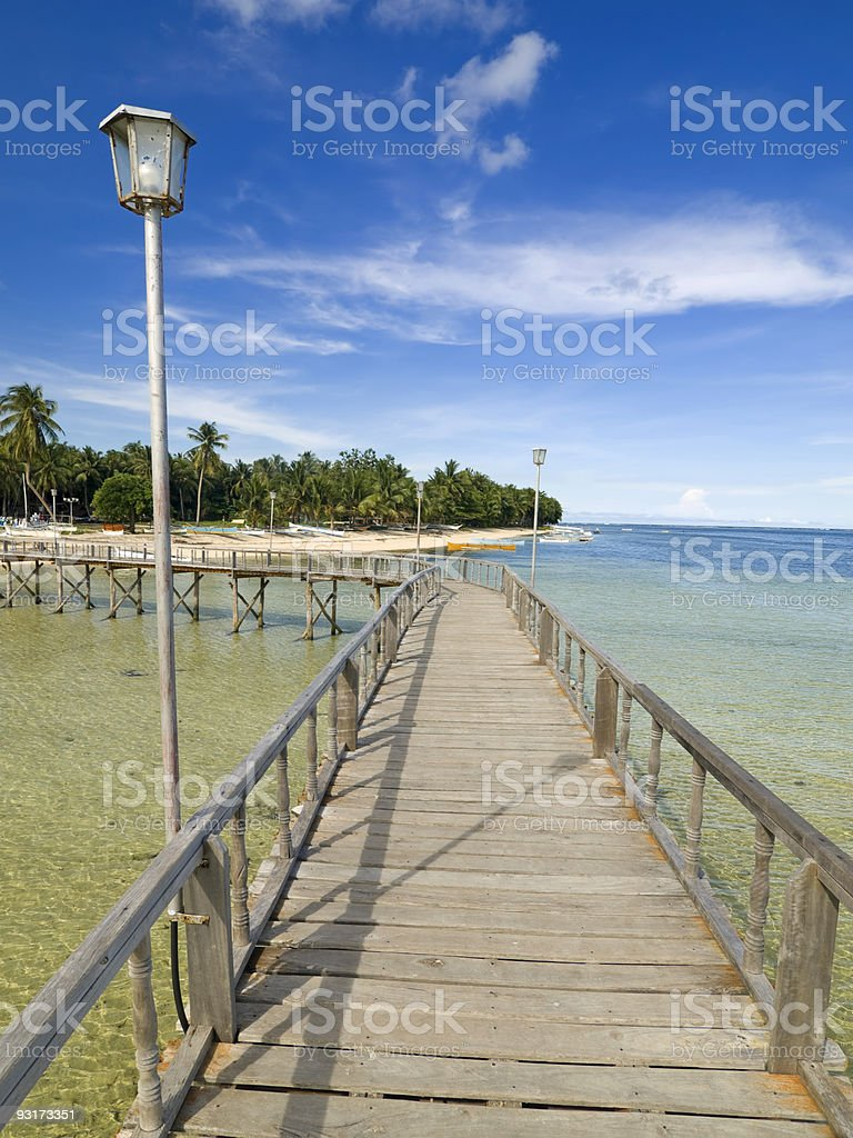 GL Boardwalk stock photo