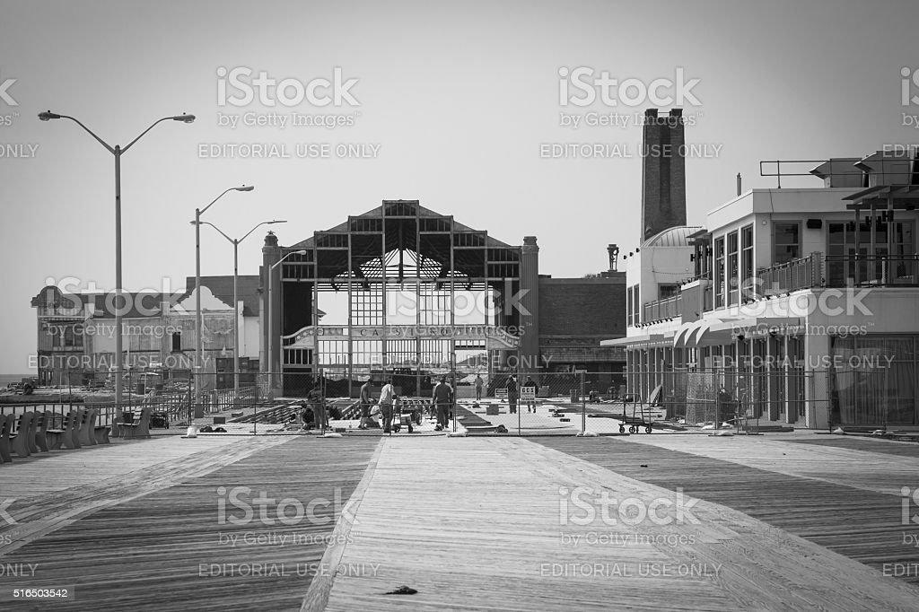 Boardwalk Repair stock photo
