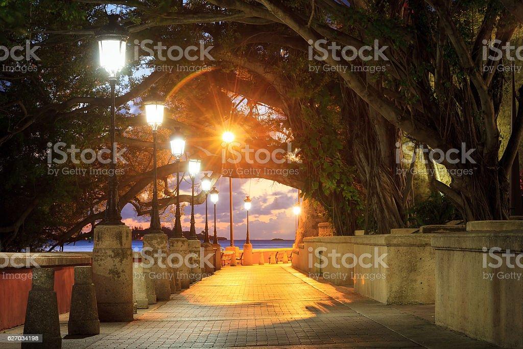 Boardwalk San Juan stock photo