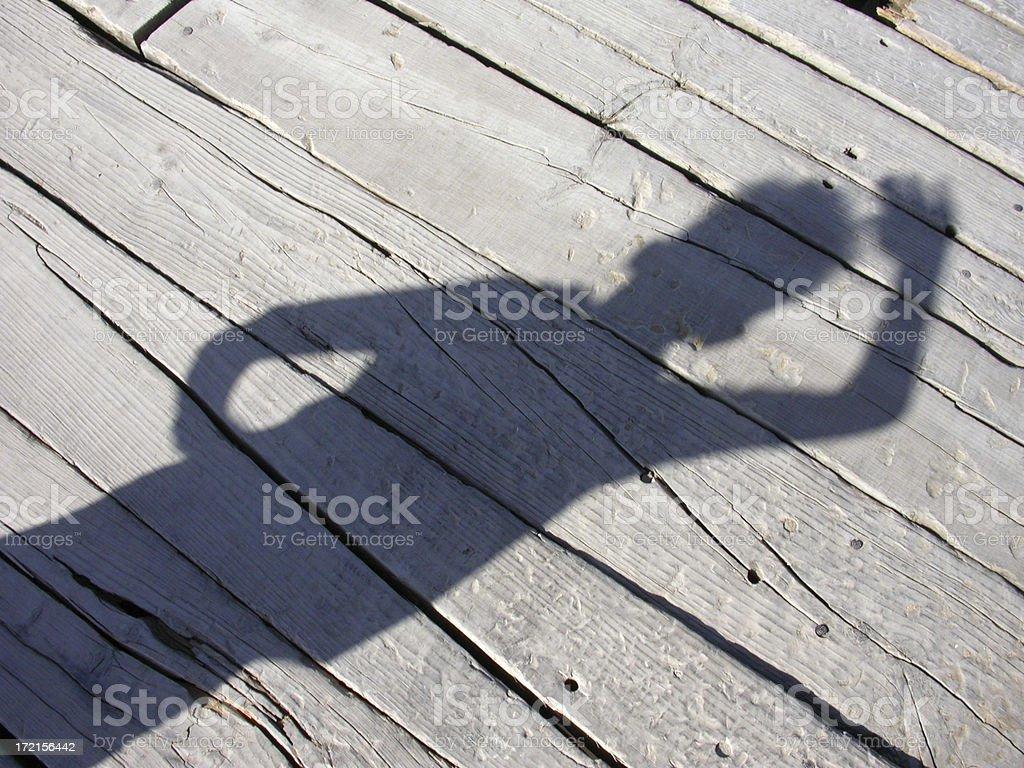 Boardwalk Shadow 3 royalty-free stock photo