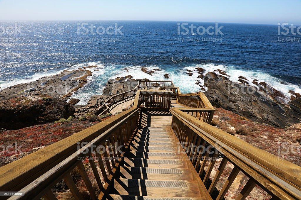 Boardwalk to Admirals Arch stock photo
