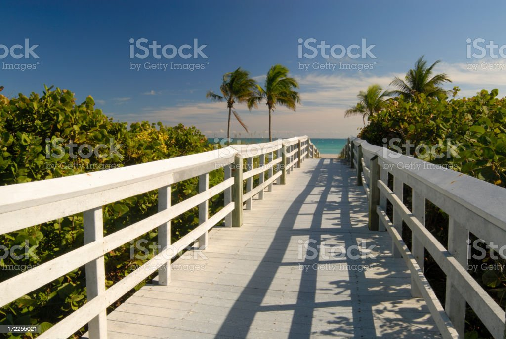 Boardwalk to Beach 2 royalty-free stock photo