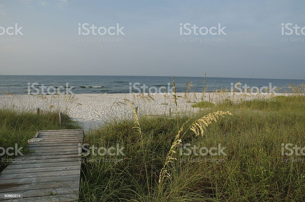 Boardwalk to Beach royalty-free stock photo