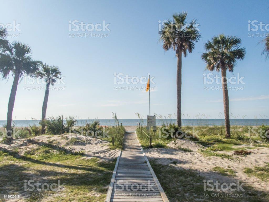 Boardwalk to Edisto Beach stock photo