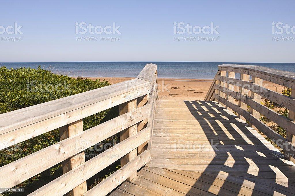 Boardwalk to the Beach stock photo