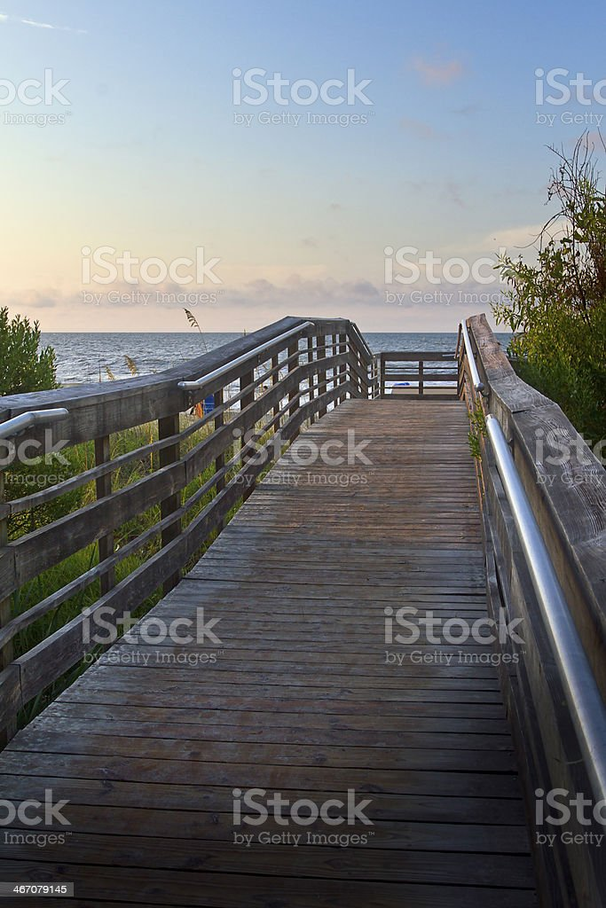 Boardwalk to the Beach royalty-free stock photo