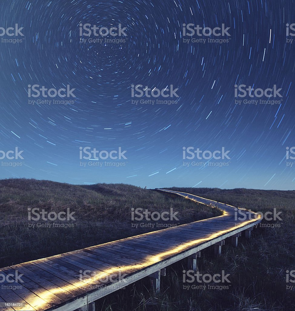 Boardwalk to the Stars royalty-free stock photo