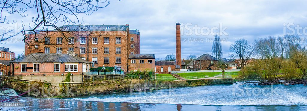 Boar's Head Mills in Derby in England, UK stock photo