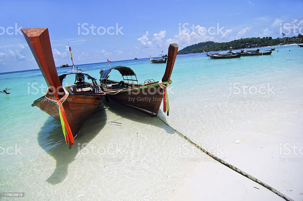 boat and beach of THAILAND royalty-free stock photo
