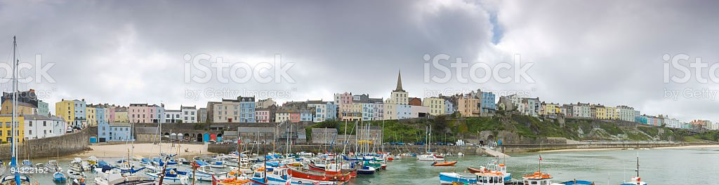 Boat and buildings royalty-free stock photo