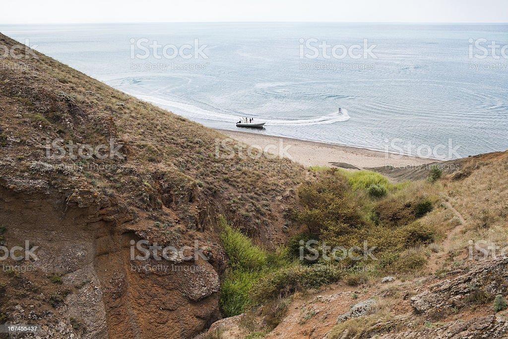Boat and Jet Ski stock photo