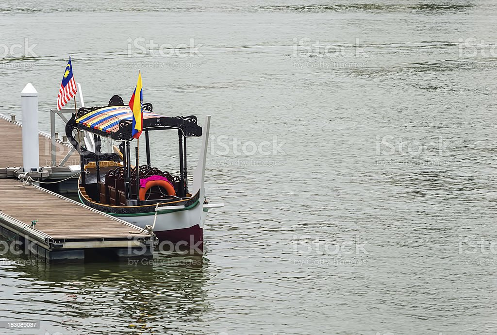 Boat and jetty royalty-free stock photo
