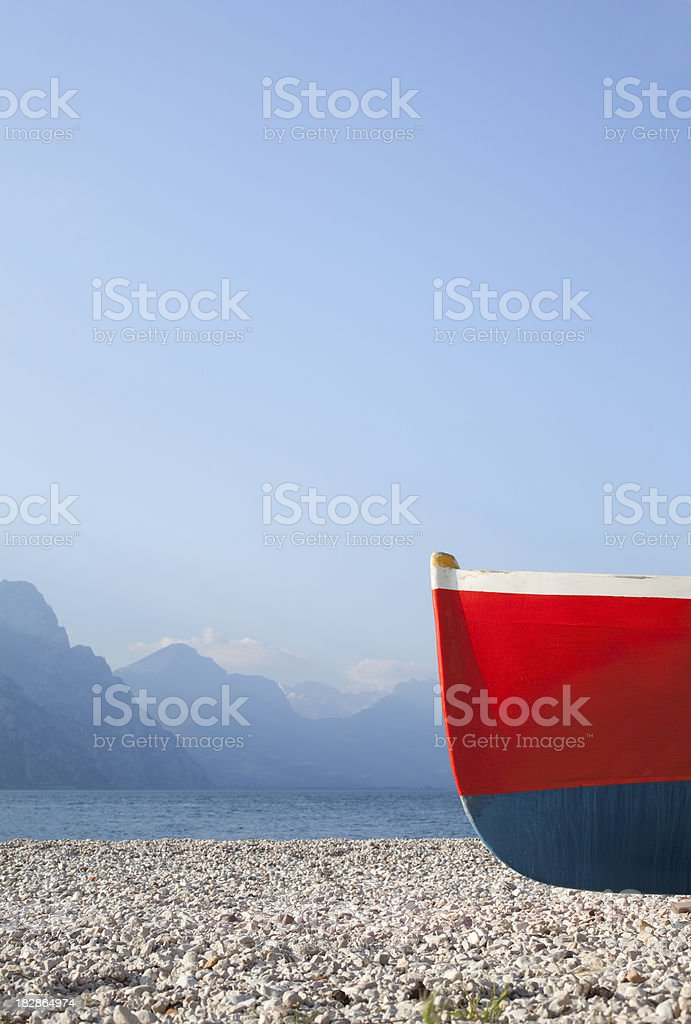 Boat ashore royalty-free stock photo