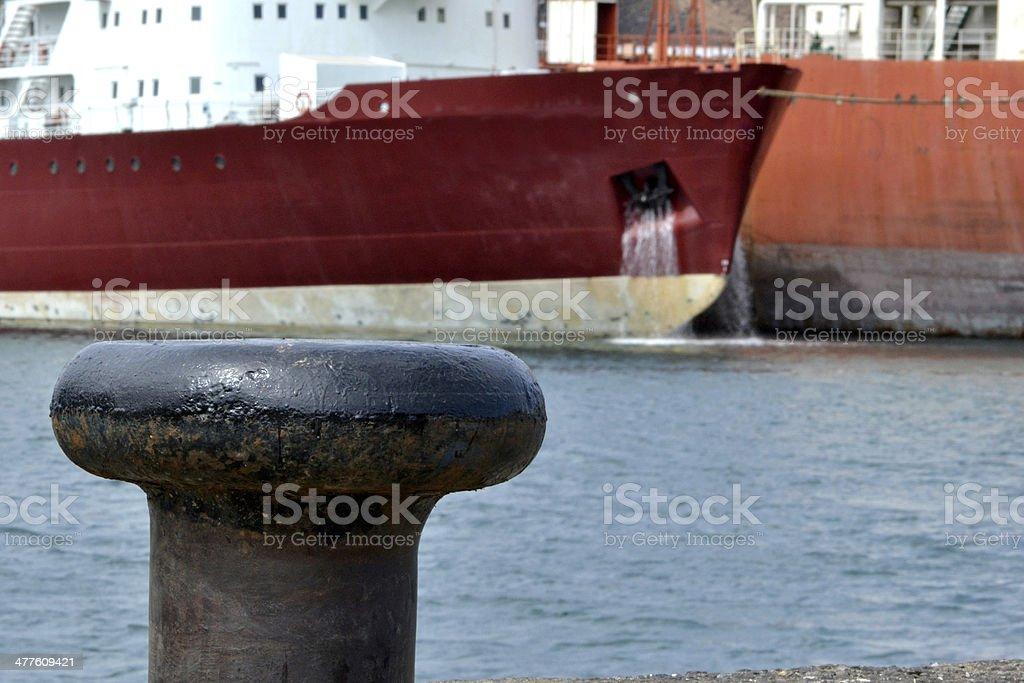 Boat at dock royalty-free stock photo