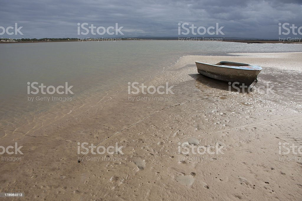 Boat at Gamtoos River Estuary Eastern Cape South Africa royalty-free stock photo