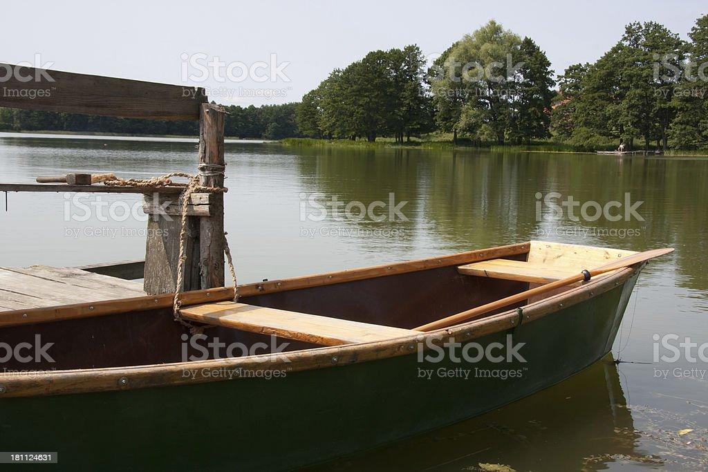 boat at jetty royalty-free stock photo
