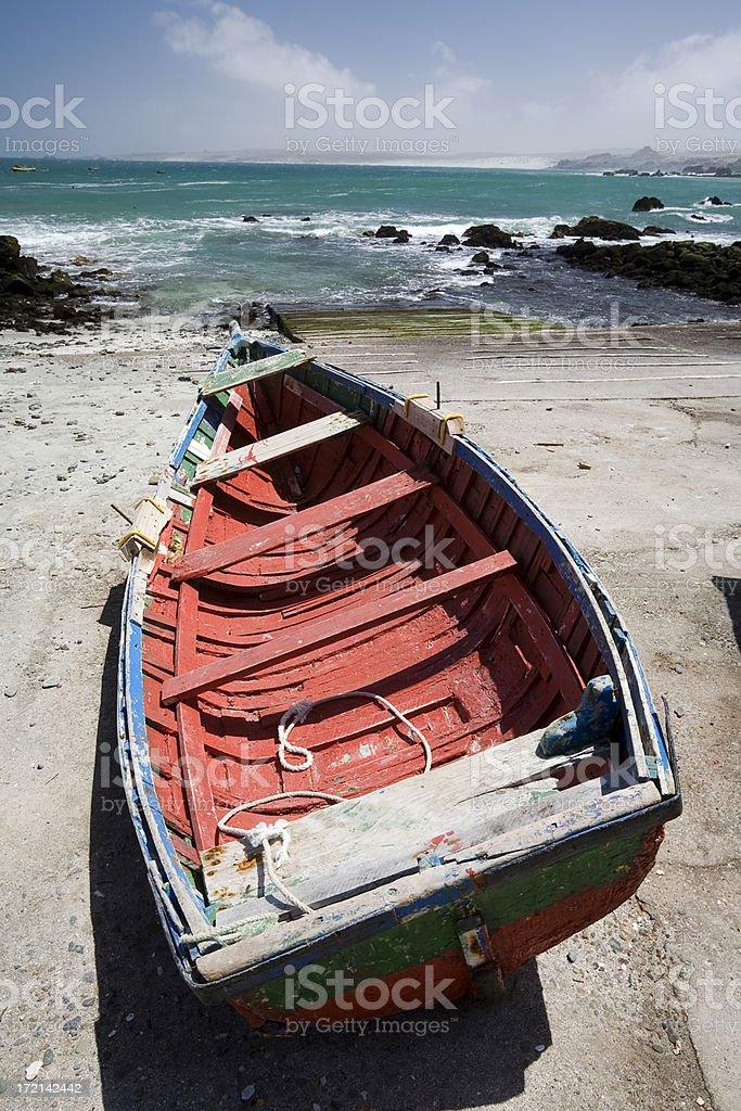 Boat at Punta de Choros, Chile stock photo