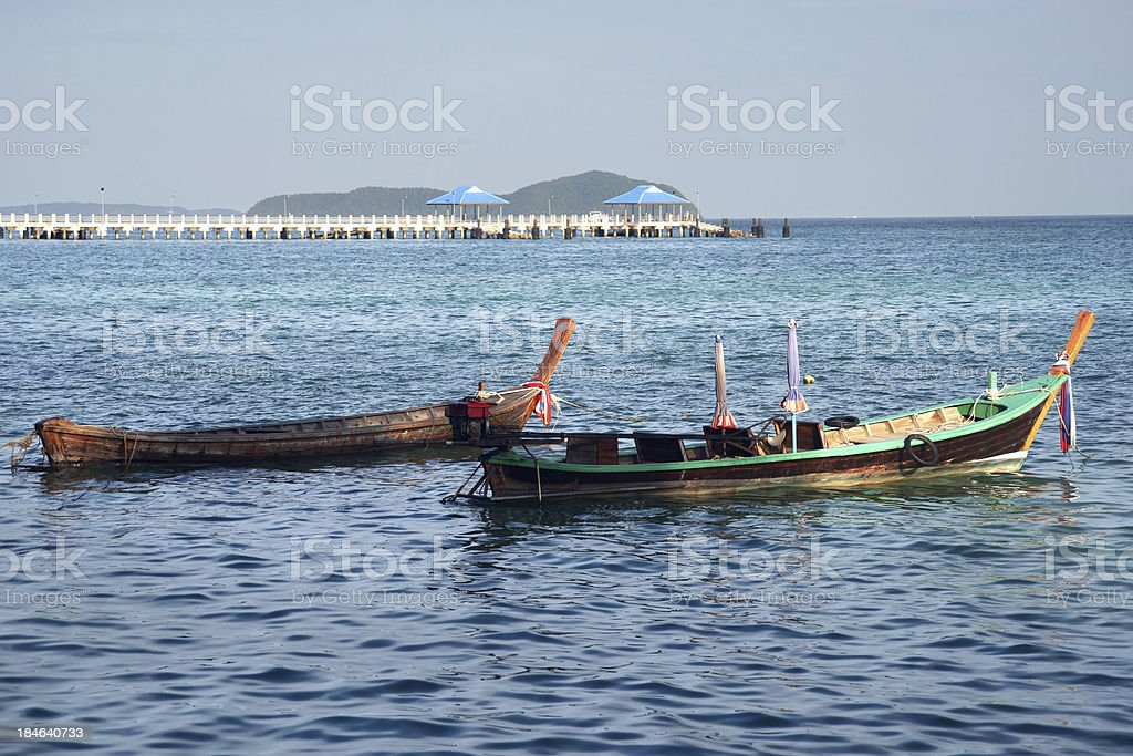 Boat at Rawai Beach Phuket Province, Thailand stock photo
