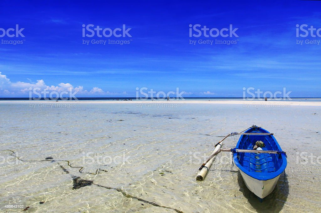Boat at The Beach stock photo