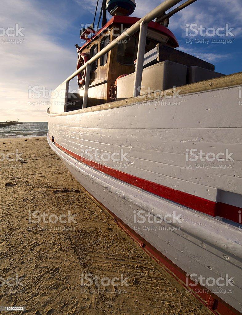 Boat at the Danish west coast royalty-free stock photo