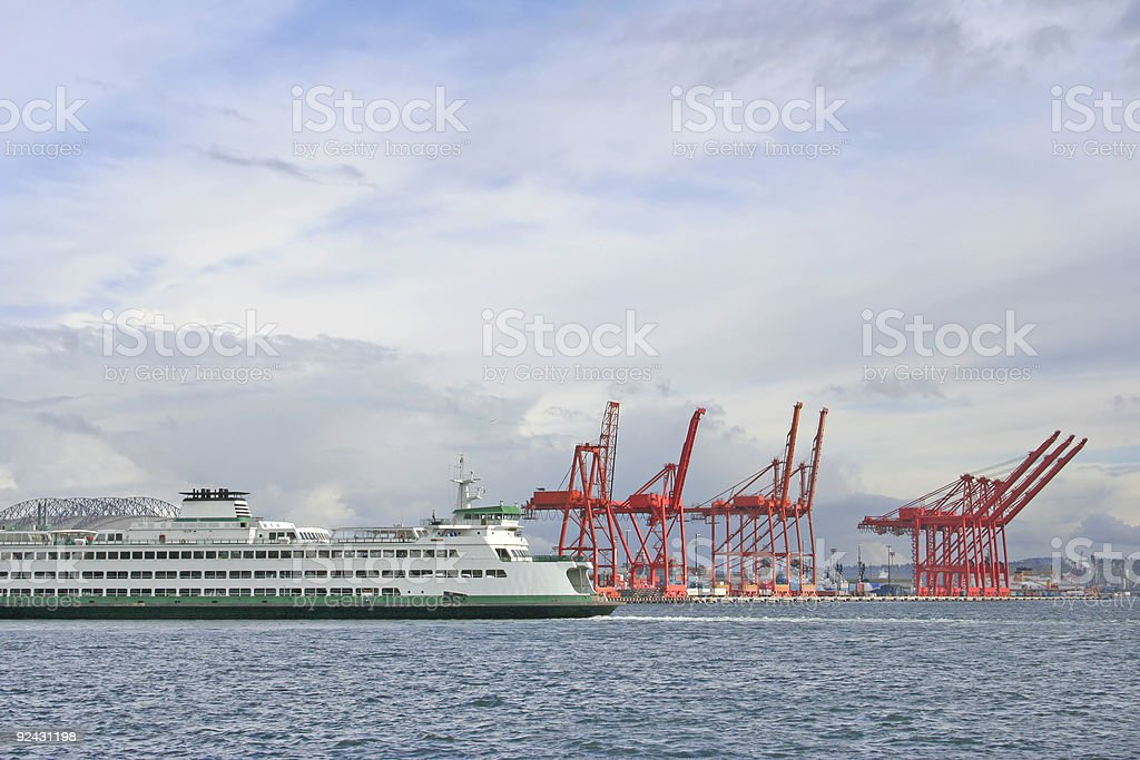 Boat at the Docks stock photo
