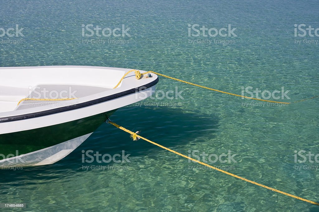 Boat Bow In Tropical Water royalty-free stock photo