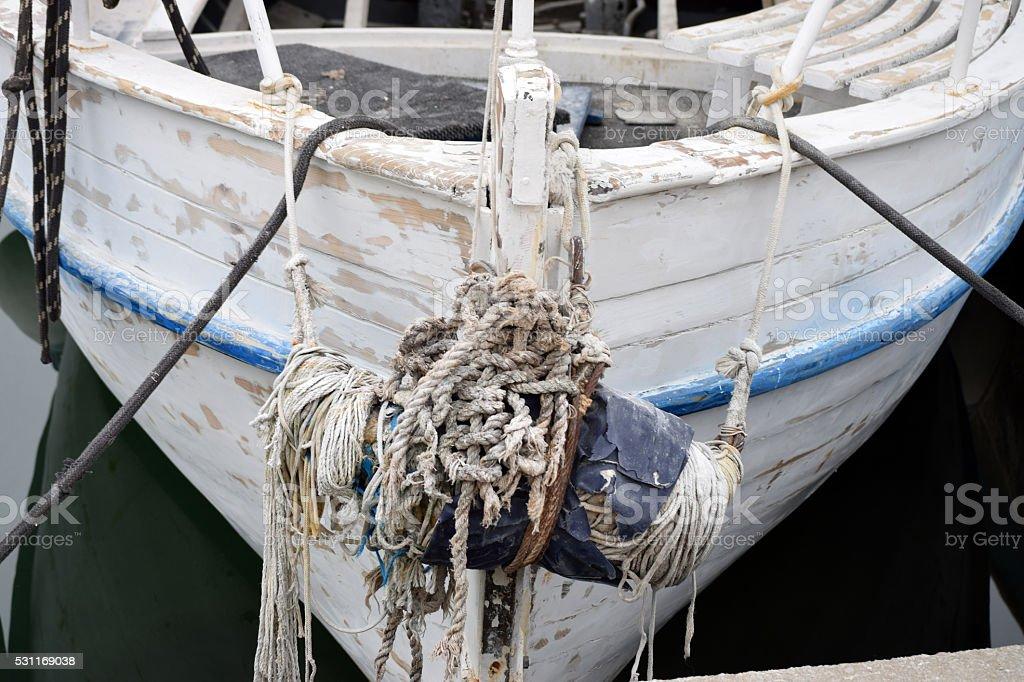Boat bow stock photo