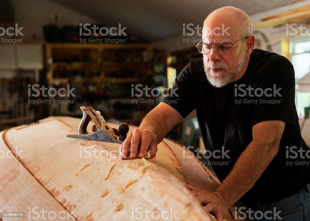 Boat Builder stock photo