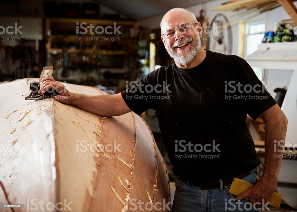 Boat Builder stock photo