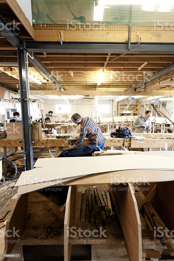 Boat building academy stock photo