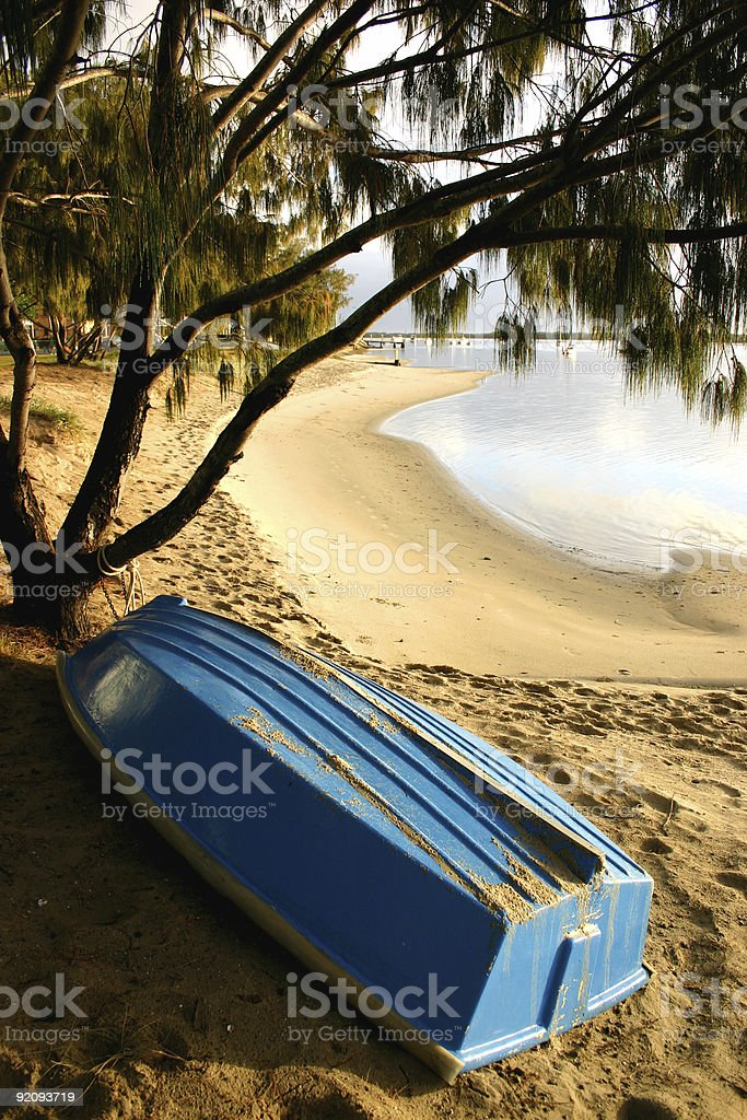 Boat By The Beach stock photo