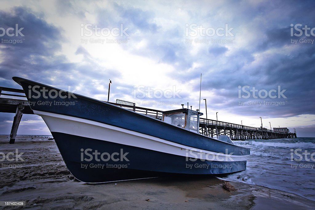 Boat by the Pier royalty-free stock photo