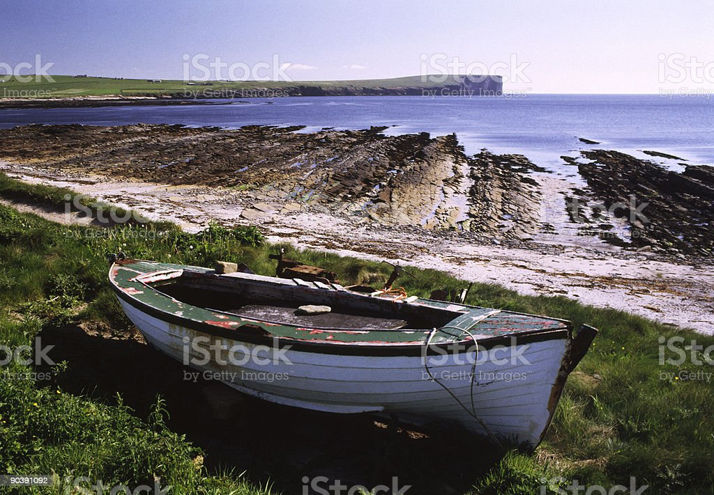 Boat by The shore royalty-free stock photo