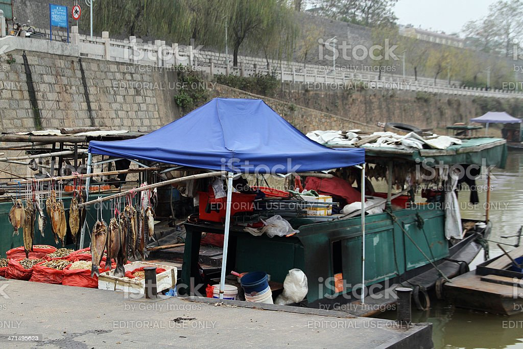 Barca di Zhanggong città parete, Cina foto stock royalty-free