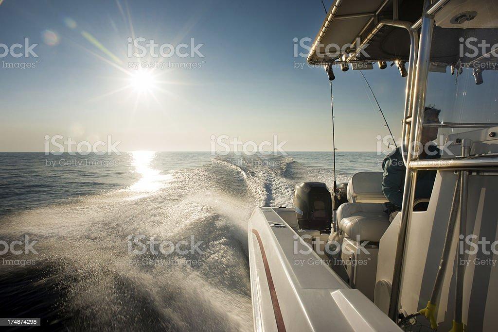 Boat captain stock photo