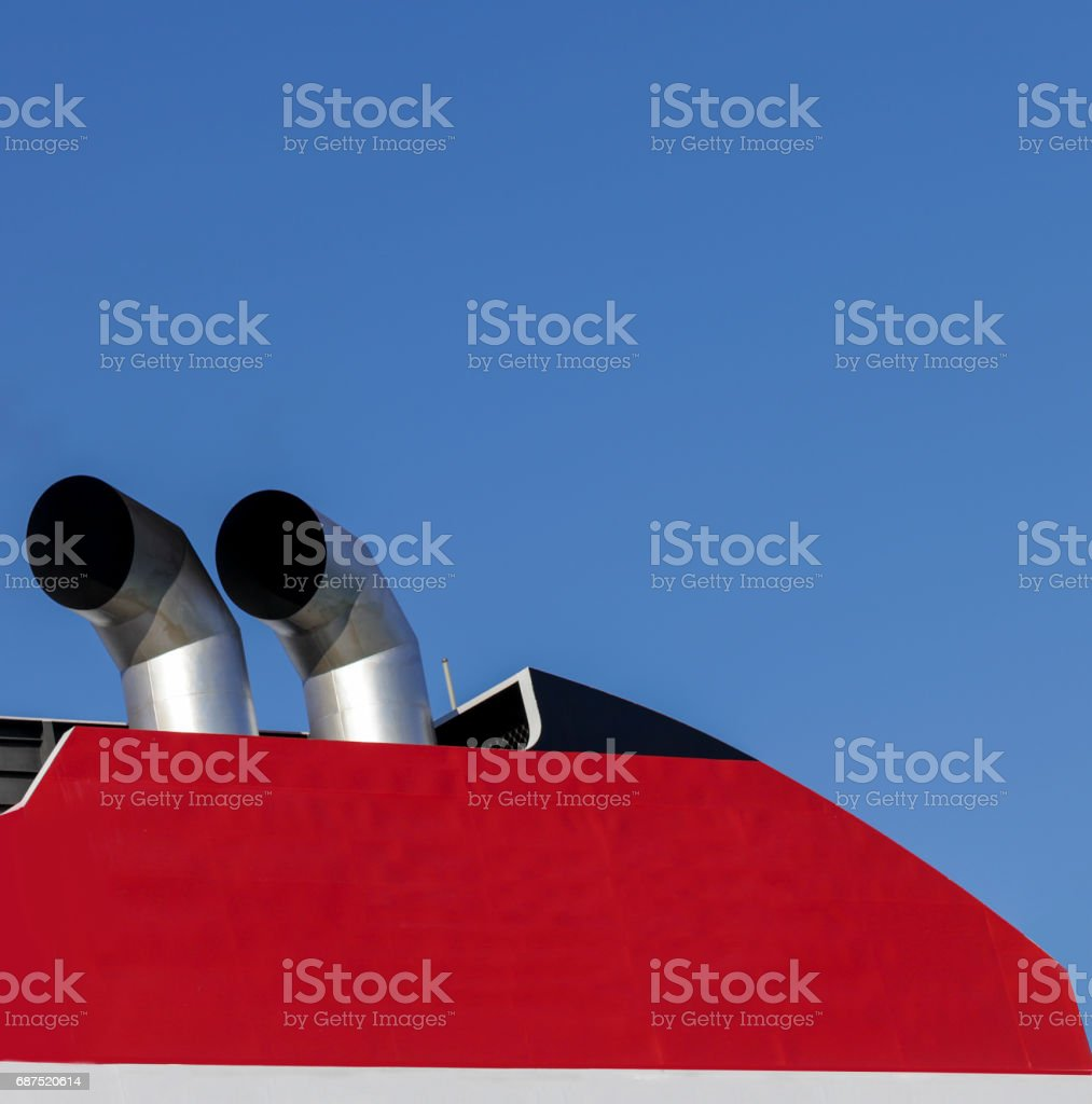 Boat Chimneys stock photo