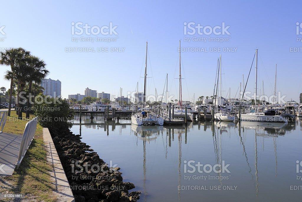 Boat Cove Downtown Sarasota stock photo