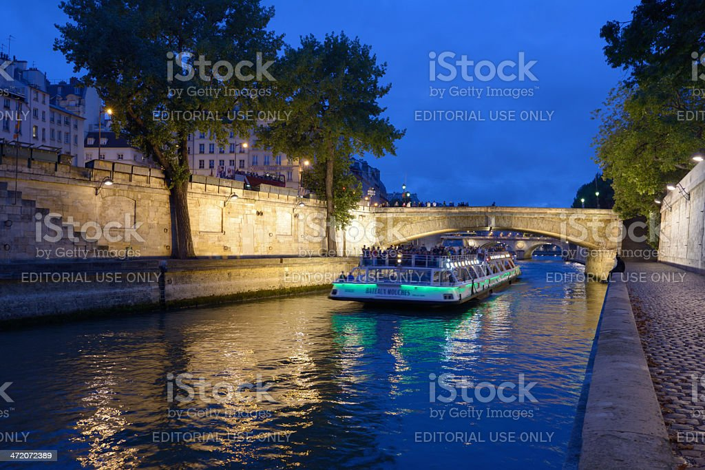 Boat cruise in Paris, France stock photo