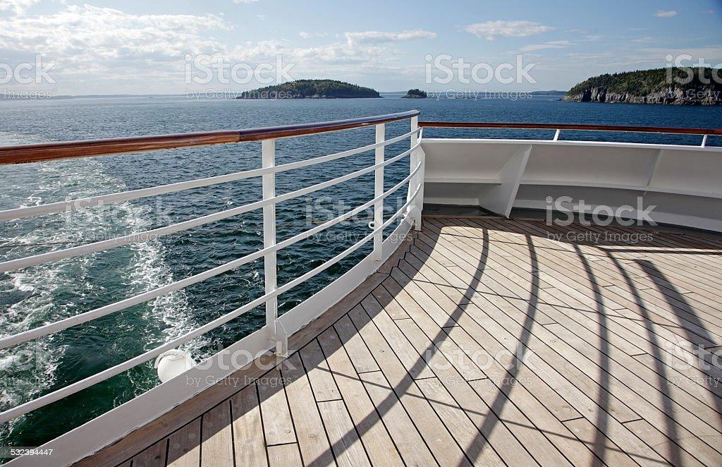 Boat Deck Railing stock photo