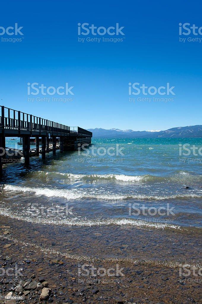 Boat Dock on Lake Tahoe stock photo