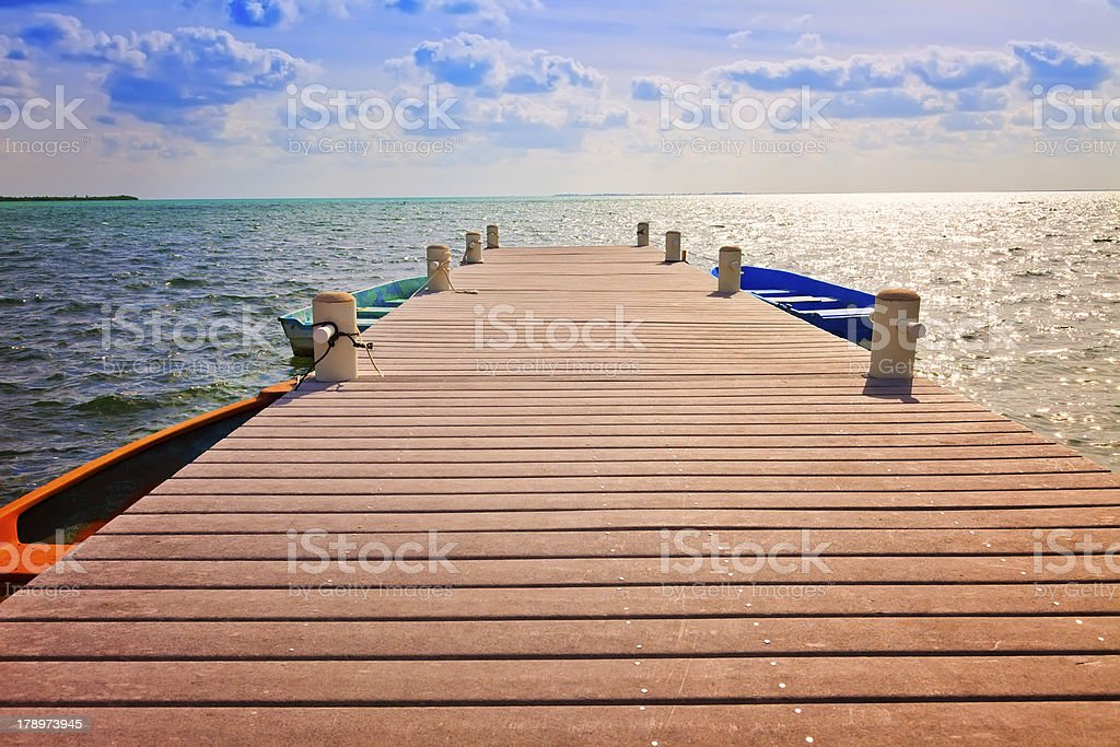Boat Dock stock photo