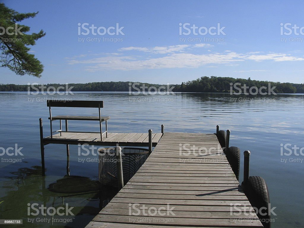 Boat Dock royalty-free stock photo