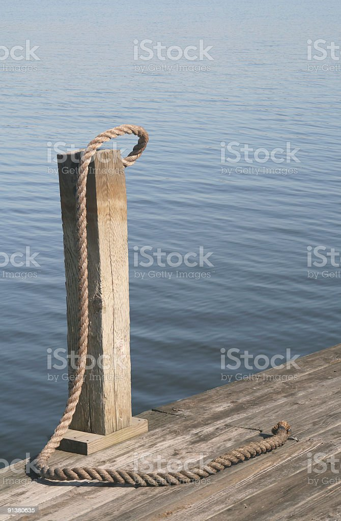 Boat dock.  Removed for new development. royalty-free stock photo