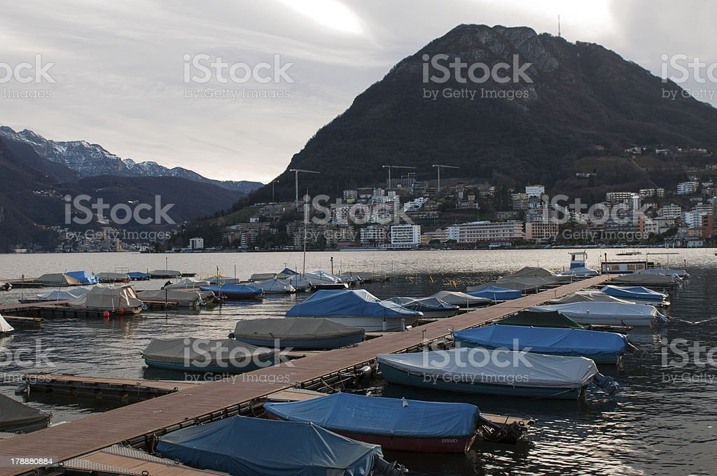 Boat docking royalty-free stock photo