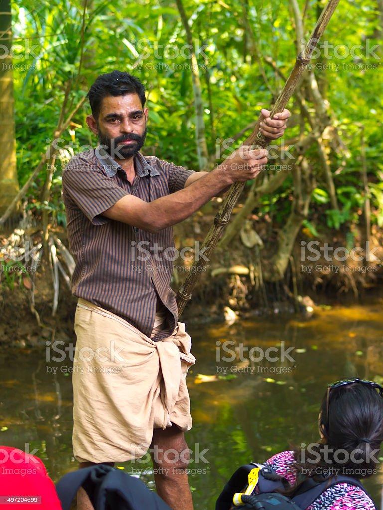 Boat driver stock photo