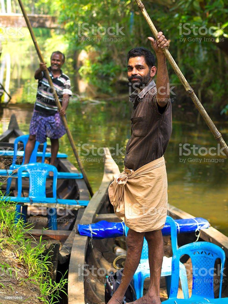 Boat drivers stock photo