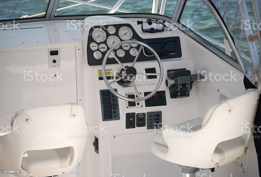 Boat Driver's Seat royalty-free stock photo